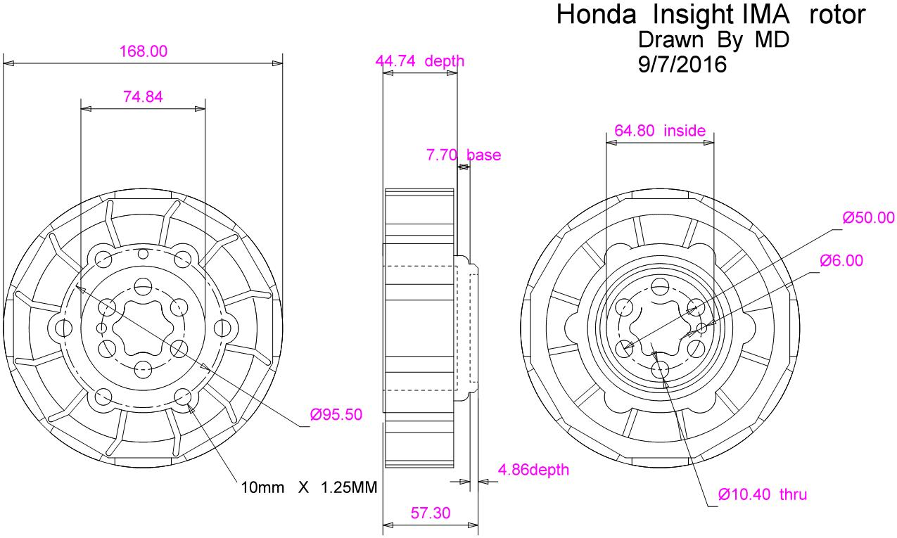 Downloads Mima Honda Insight Modified Integrated Motor Assist 93 Del Sol Electrical Wiring Diagram Download Ima Rotor