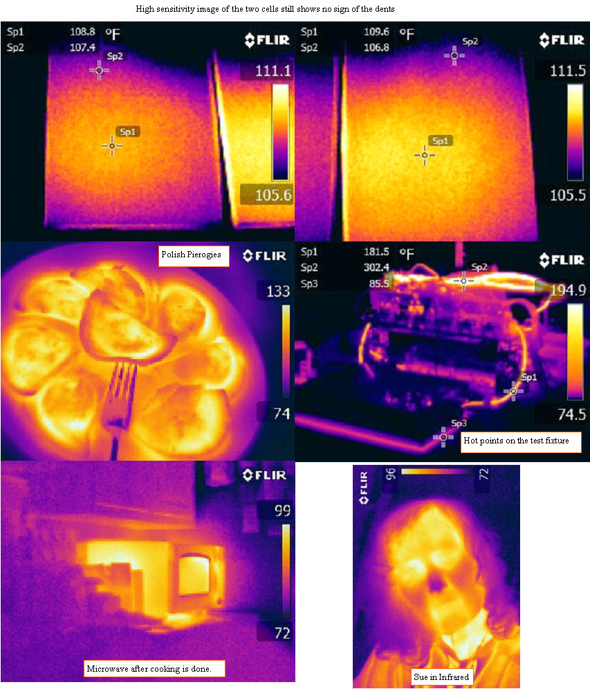 Higher thermal sensitivity look at the cell heating still shows no dents