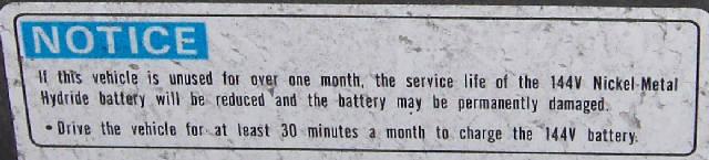 Rebalancing the Insight battery?