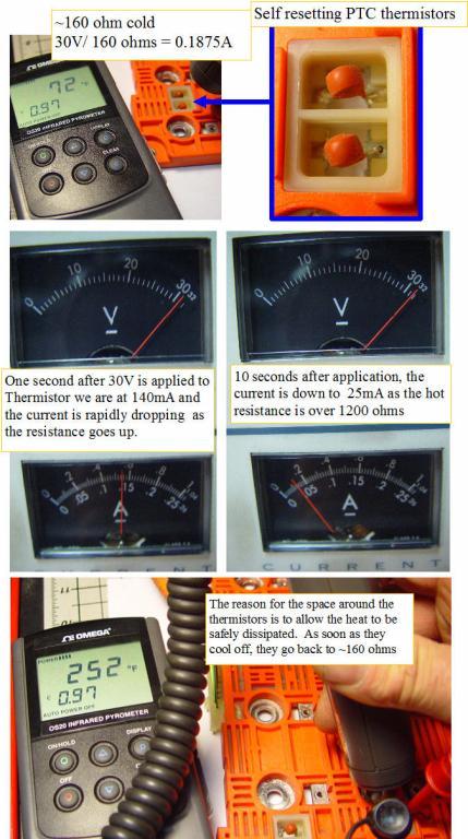 The PTC thermistors