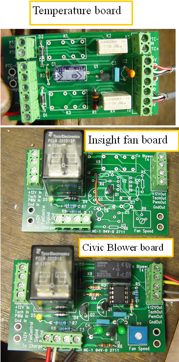 Fan and temp boards