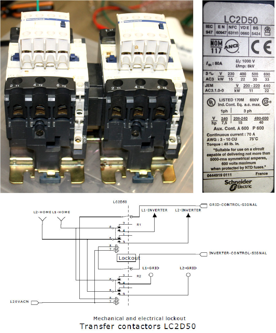 50A 600VAC transfer relay