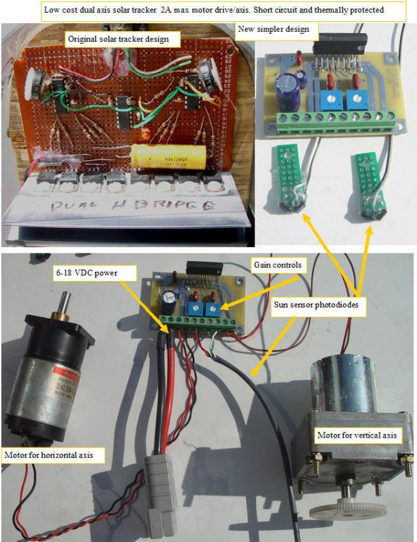 Designing a simpler and lower cost solar tracking amplifier