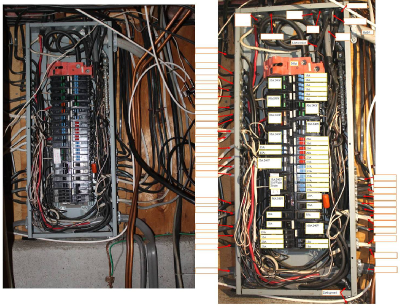 making the connection to the existing wiring