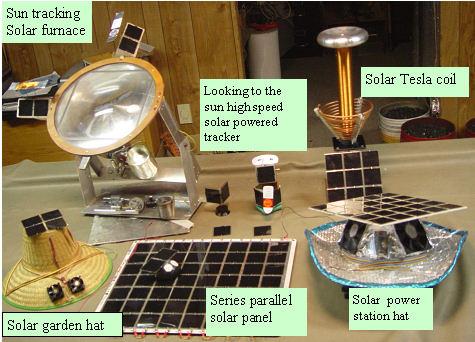 Solar teaching toys