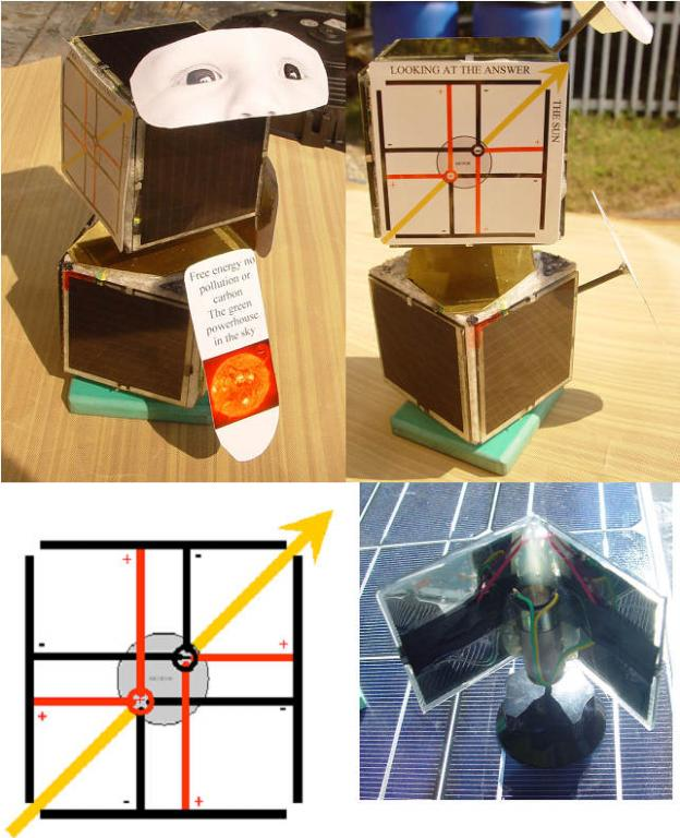 "Solar tracking with no electronics"" Solar Puppet"""