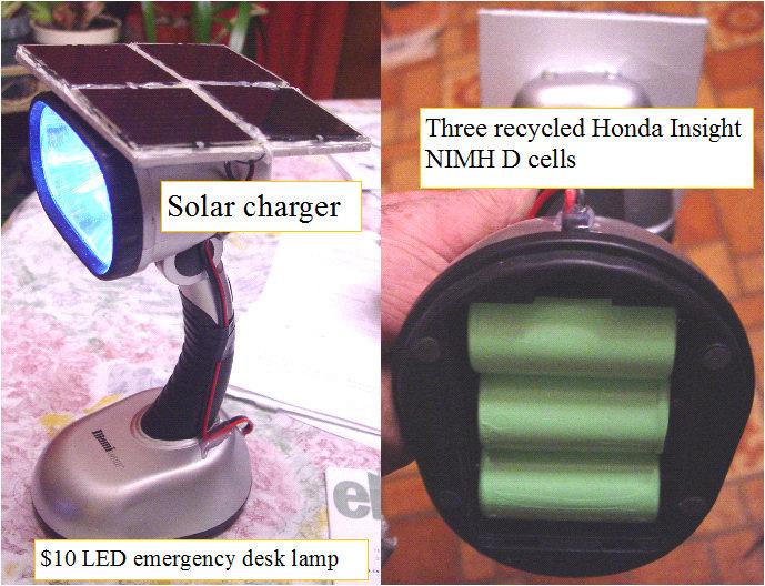 Forever solar desk lamp