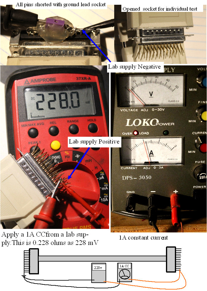 Measuring resistance of less than 1 ohm