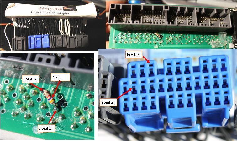 Installing the resistor