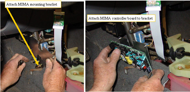 5. Mounting the MIMA system in  the car.