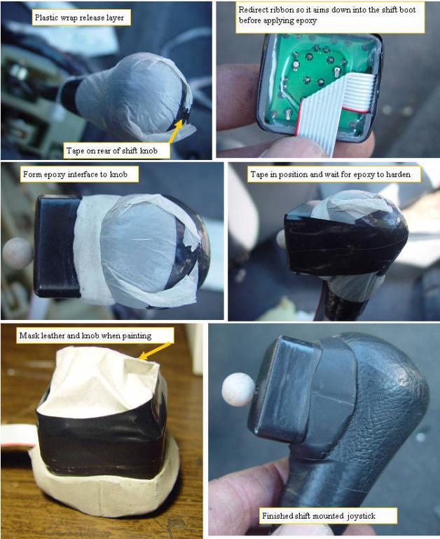 Mounting the shift knob joystick