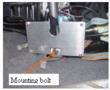 9. Mounting the MIMA system in  the car.