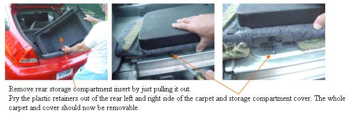 Remove rear storage compartment
