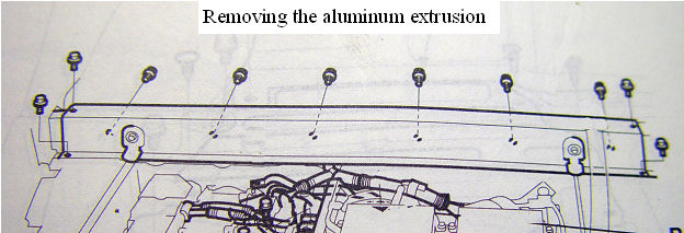 Removing the  aluminum extrusion behind the seats