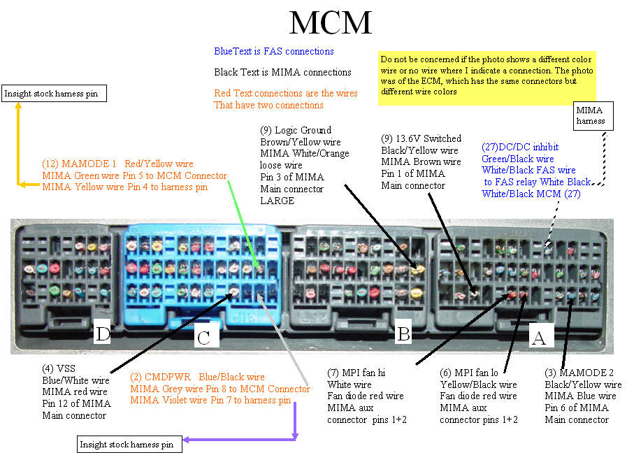 MCM connections