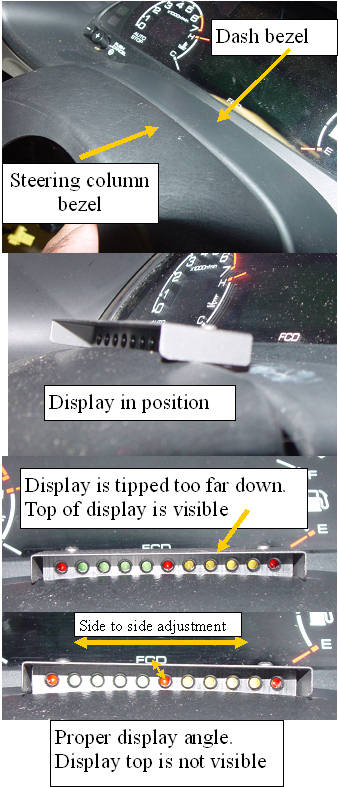 12. Mounting the low profile display